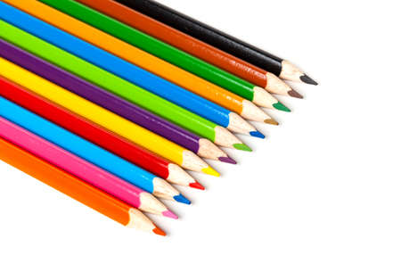 colored pencils: Colored pencils, isolated