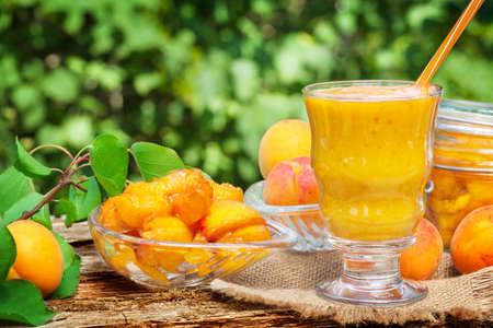 boil: Boil apricot, yellow smoothie