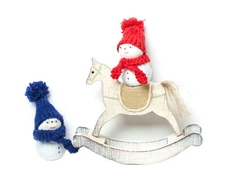 tinkered: Snowmen and Rocking Horse, Christmas decoration