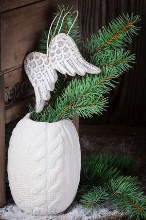 pine green: Angel wings in pine green