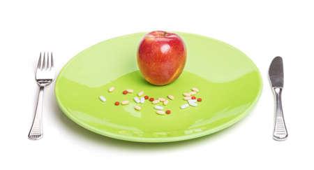 Vitamine oder Pillen? Standard-Bild - 48641958