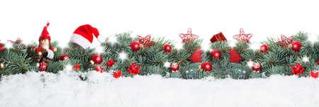 Noël fond, bannière Banque d'images - 48641975