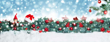 Noël fond, bannière Banque d'images - 49041208