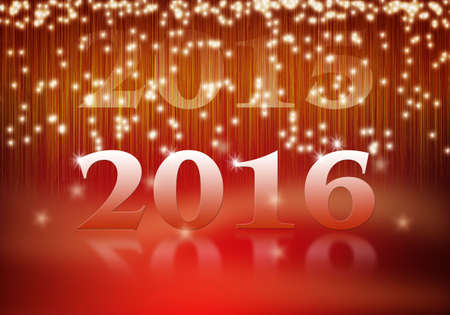 turns of the year: Turn of the year 2015 2016 Stock Photo