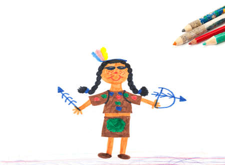 squaw: Carnival, childrens drawings