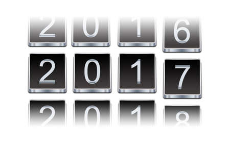turns of the year: New year 2017 Stock Photo