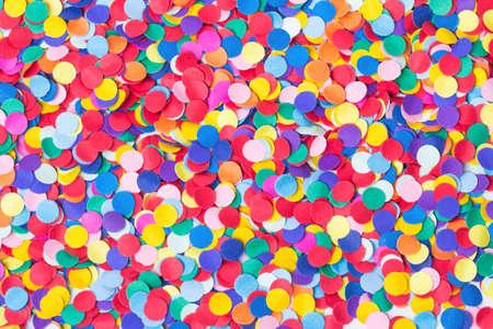 Confetti, colorful and round Stockfoto