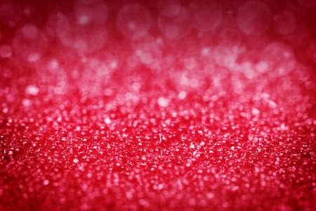 glamors: Red background, glitter, lights, bokeh