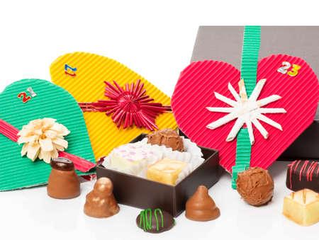 pralines: Advent, christmas calendar, chocolate, pralines
