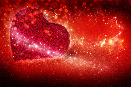 Hearts, red background for Valentines Day