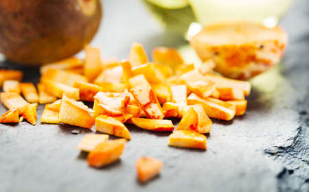 Avocado Core crushed Stock Photo