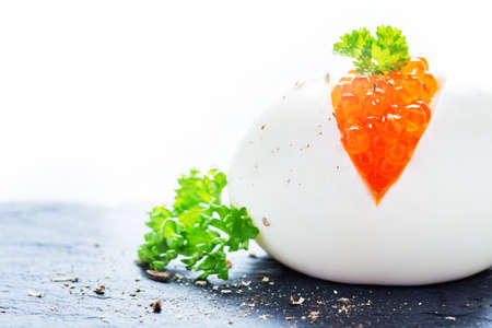 spawn: Egg with caviar and parsley