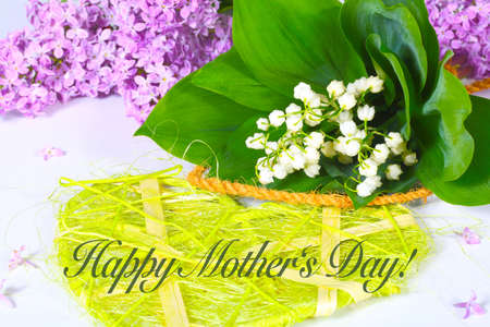 Happy Mothers Day, Lilac and lily of the valley