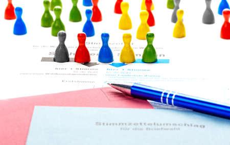 Voting form for Bundestag elections