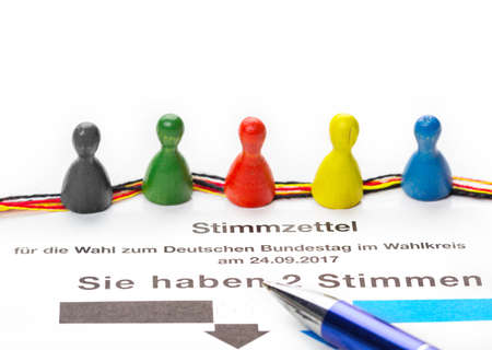 absentee: Voting form for Bundestag elections