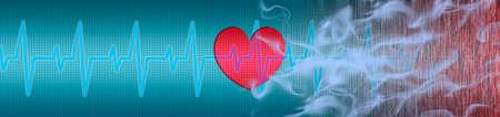 ECG, heart, cigarette smoke makes you sick