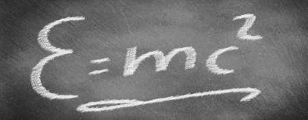 Formula for relativity theory on slate board