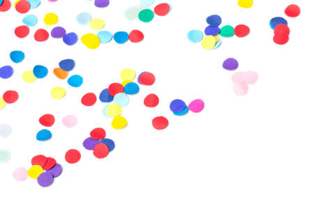 Colorful confetti, isolated on white
