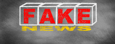 Fake news and concept of the headlines