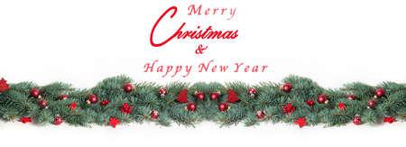Kerst Achtergrond, Banner Stockfoto