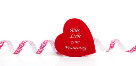 All the best for women's day, greeting card as a banner in German