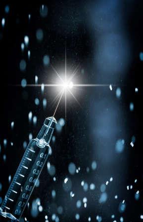2019 NCOV virus, vaccine in syringe Standard-Bild
