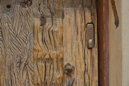 mezuzah: the ancient city of Jaffa Israel fragment of the old wooden door