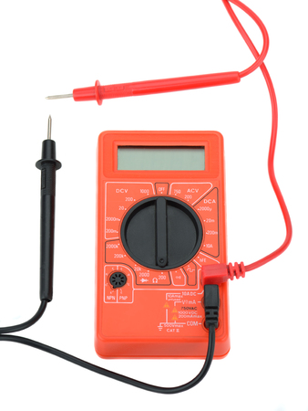 the tester: electro tester red to measure current voltmeter