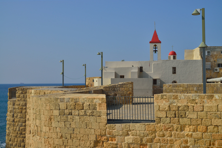 knights templar: ancient acre fortress of the knights Templar Israel Catholic Church by the sea