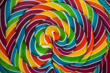 close up on a colourful lollipop