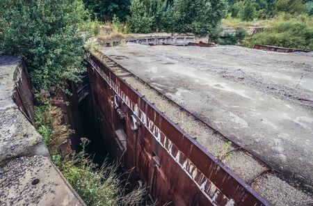 Abandoned and unfinished bunker from Soviet era called Object 1180 near Oliscani village, Moldova
