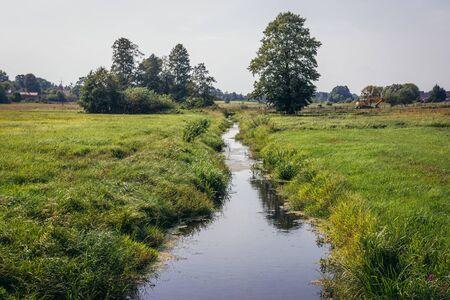 Small river Rudnia in Soce, small village in Podlasie region of Poland