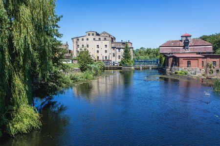 River Rega in Gryfice town, West Pomerania Province of Poland