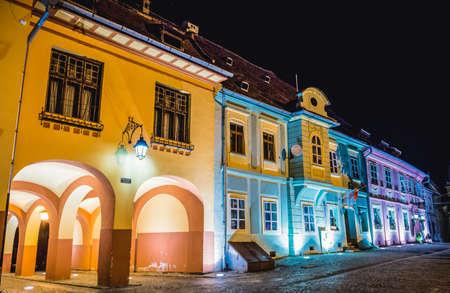 Sighisoara, Romania - July 4, 2016: Citadel Square, main square of Old Town of Sighisoara city