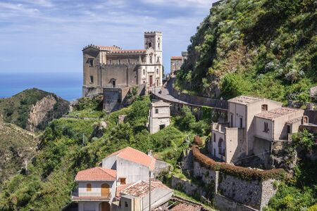 Saint Nicholas Church also called Saint Lucy Church in Savoca, small town on Sicily in Italy