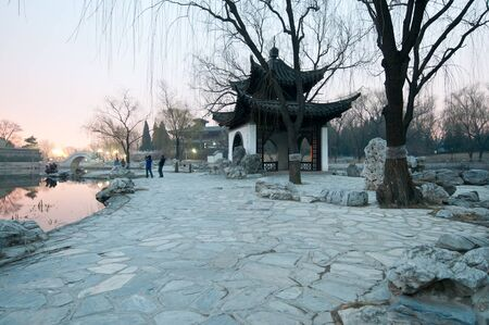 Small pavilion in Taoranting Park located in Xuanwu District in Beijing, China