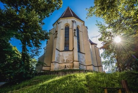 So called Church on the Hill in Sighisoara city located in Mures County of Romania Foto de archivo