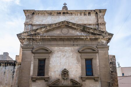 Front view of 40 Martyrs of Pisa Church in Palermo, Sicily Island in Italy