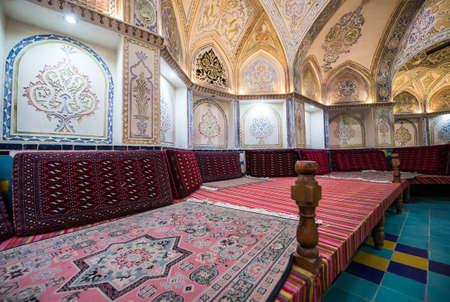 Plasterwork in Sultan Amir Ahmad Historical Bath in Kashan, Iran Éditoriale
