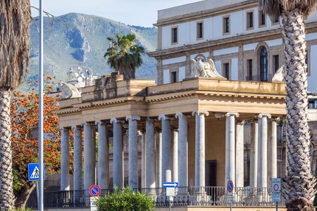 Historical building called Temple of Concerts in Palermo, Sicily Island in Italy Archivio Fotografico