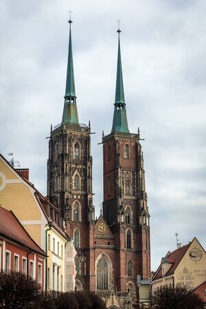 St John the Baptist Cathedral in Ostrow Tumski, historic part of Wroclaw city, Poland