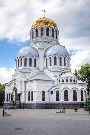 St Alexander Nevsky cathedral in Kamianets Podilskyi city in Khmelnytskyi Oblast, Ukraine