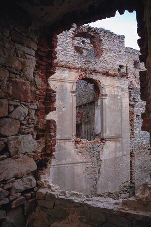 Ruins of castle called Krzyztopor, located in the village of Ujazd in Swietokrzyskie Voivodeship of Poland