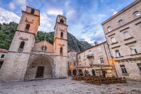 St Tryphon cathedral in historic part of Kotor city, Montenegro