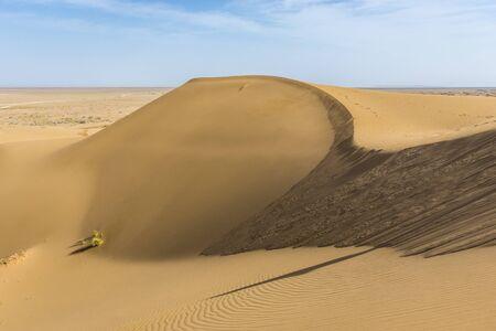 Large sand dune of Maranjab Desert in Iran
