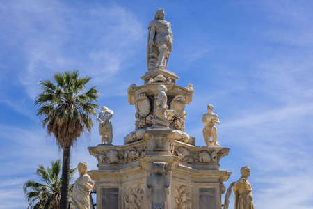 Monument called Teatro Marmoreo - Marble Theater located on Parlament Square in Palermo city on Sicily Island, Italy