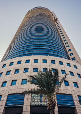 Tel Aviv, Israel - October 21, 2015. 158 m government building in Tel Aviv called Kirya Tower Editorial