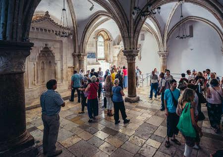 Jerusalem, Israel - October 22, 2015. People visits The Last Supper caled Cenacle in the city of Jerusalem