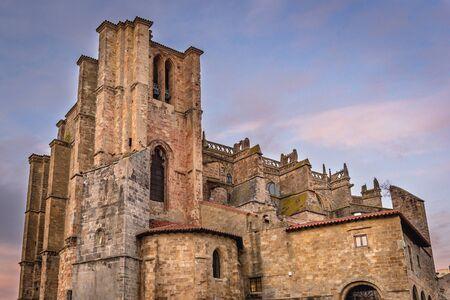 Tower of Santa Maria de la Asuncion Church in Castro Urdiale city in Spain
