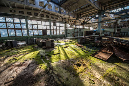 workshop in Jupiter Factory in Pripyat ghost town, Chernobyl Nuclear Power Plant Zone of Alienation, Ukraine